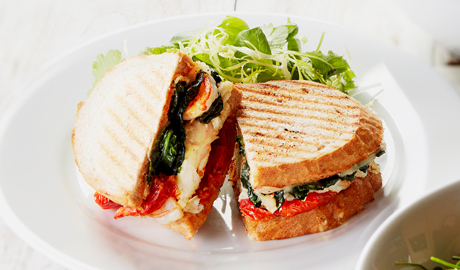 CHEESE & SPINACH EGG WHITE PANINI